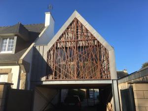 Construction d'un volume annexe à une maison - Dinard