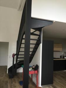Rénovation d'une mezzanine dans une pièce de vie - Maison - Dinard